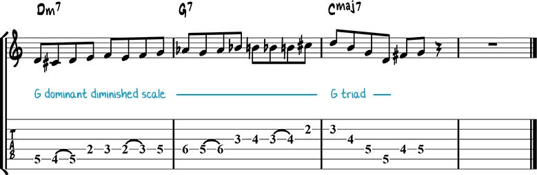 Jazz guitar lick 5