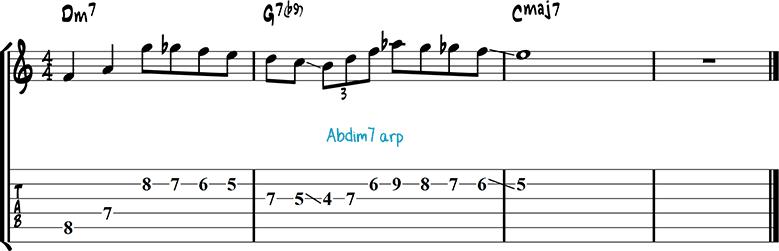 Jazz guitar lick 7