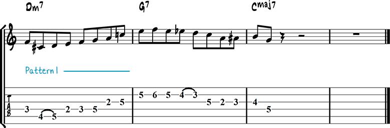 Jazz guitar lick 8