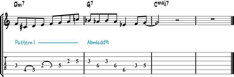 Jazz guitar lick 9