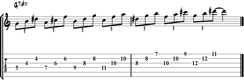 Whole tone scale triads