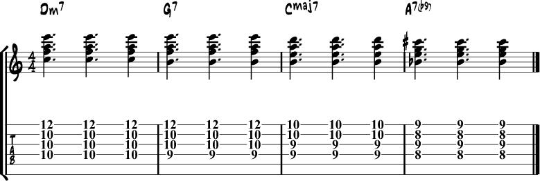 Jazz Guitar Comping Rhythms Example 10