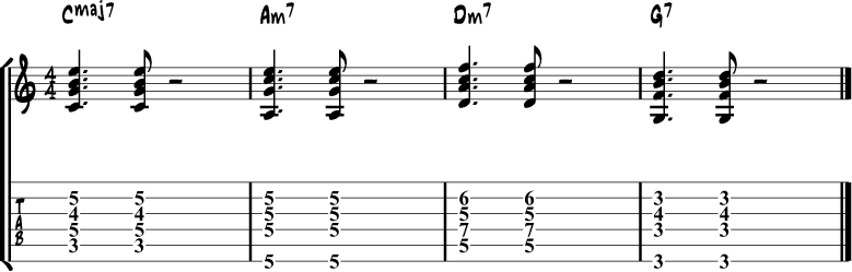 Jazz Guitar Comping Rhythms Example 2