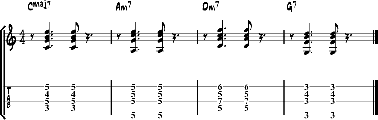 10 Essential Jazz Guitar Chord Rhythms