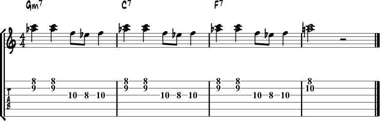 Minor Blues Scale Lick 4