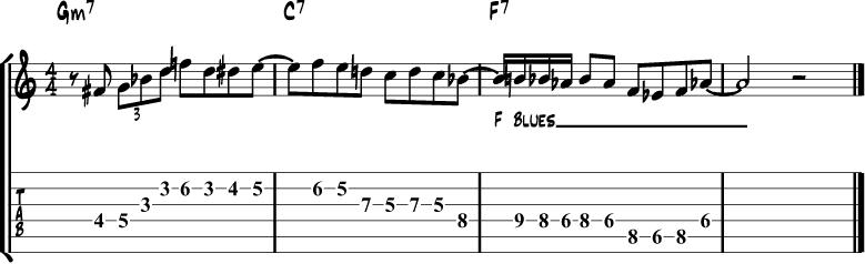 Minor Blues Scale Lick 5