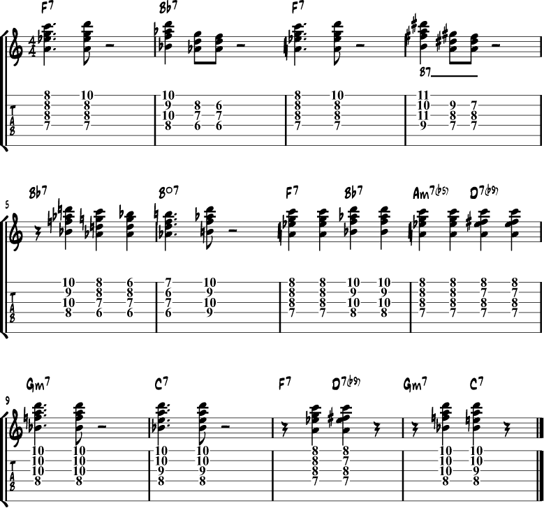 Tritone blues substitution 2