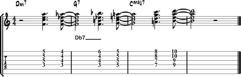 Tritone chord substitution 2