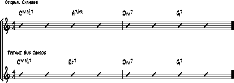 Tritone chord substitution 3
