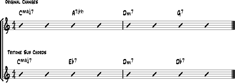 Tritone chord substitution 5