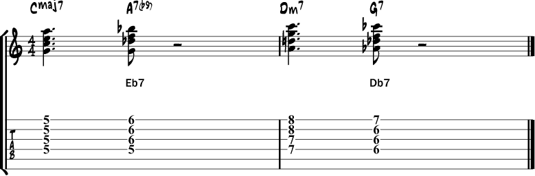 Tritone chord substitution 6