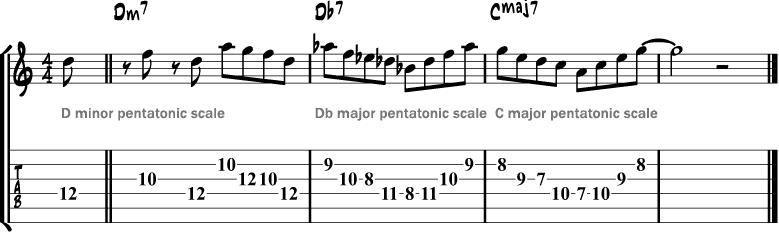 Tritone pentatonic lick
