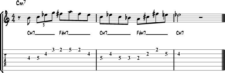 Tritone side stepping example 2