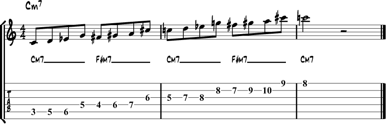 Tritone side stepping example 3