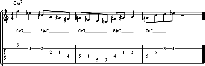 Tritone side stepping example 4