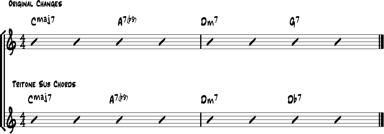 Tritone turnaround substitution