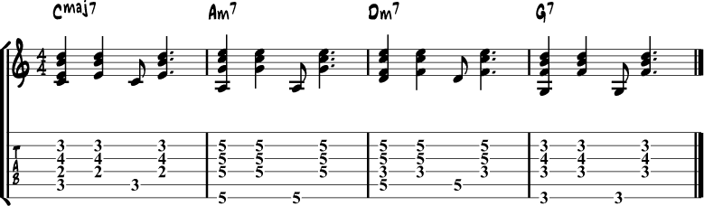 Bossa nova rhythm 1
