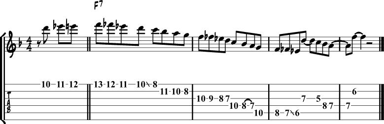 Jazz blues lick 1
