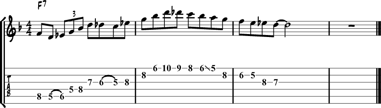 Jazz blues lick 2