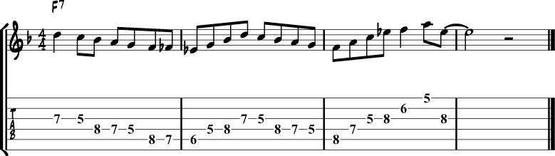 Jazz blues lick 3