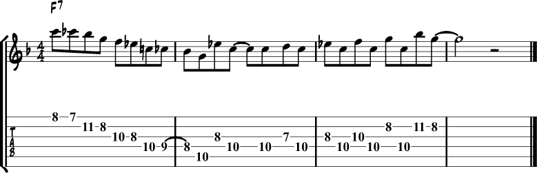 Jazz blues lick 11