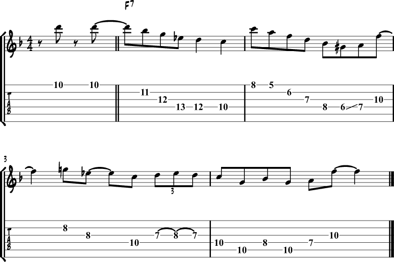 Jazz blues lick 9
