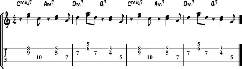 Salsa guitar rhythm 2