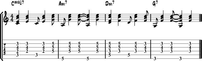 Samba guitar rhythm 1