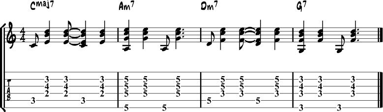 Samba guitar rhythm 2