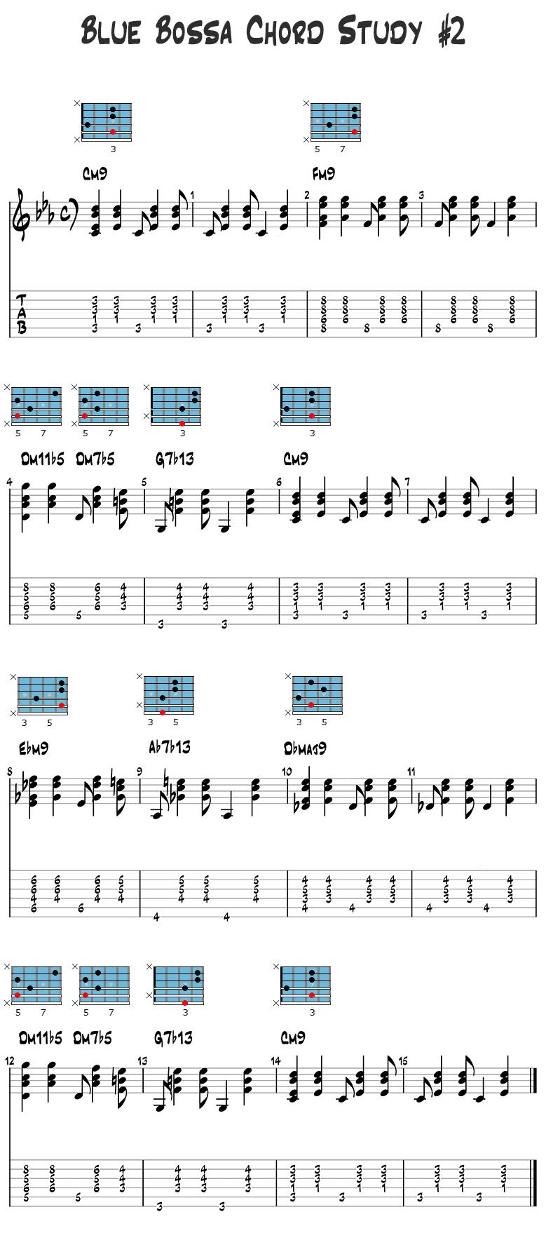 Blue Bossa Chord Study 2
