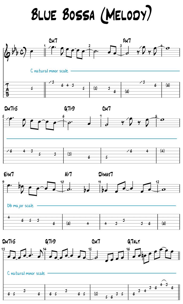 Blue Bossa Melody (Lead Sheet)
