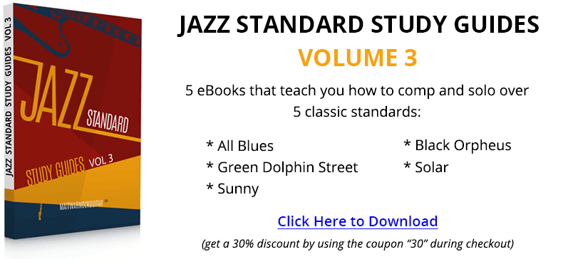 Jazz Standard Study Guides Volume 3