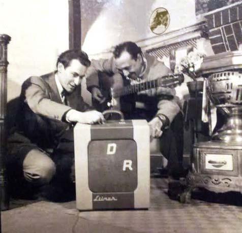 Django reinhardt testing the Livery Stimer amplifier