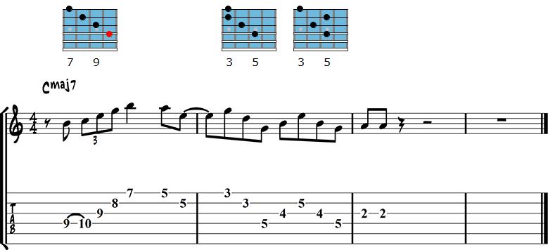 Major chord lick 1