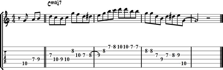 Major chord lick 4