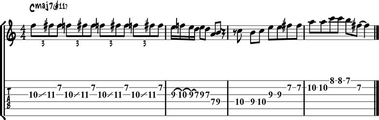 major chords lick 7