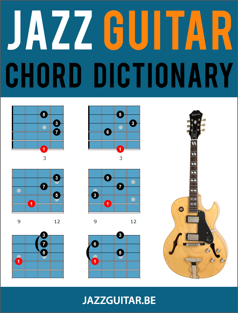 Jazz Guitar Chord Dictionary 244 Chord Shapes
