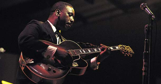 Wes Montgomery with his Gibson L-5 CES