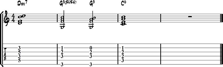 Jazz guitar ending 1