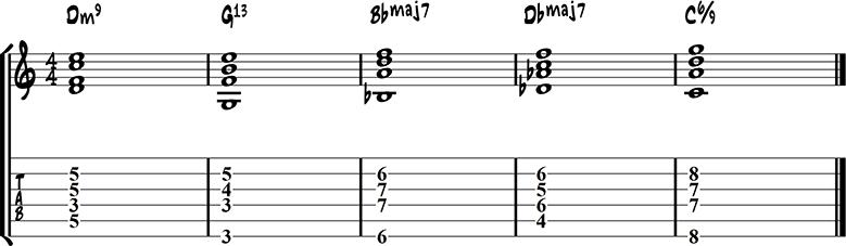 Jazz guitar ending 10