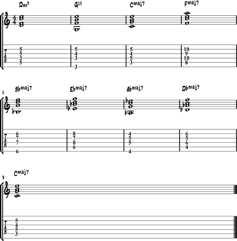 Jazz guitar ending 11