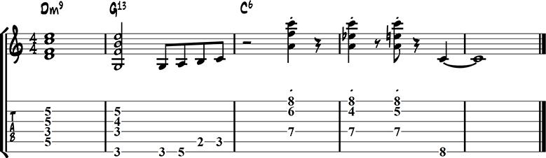 Jazz guitar ending 12