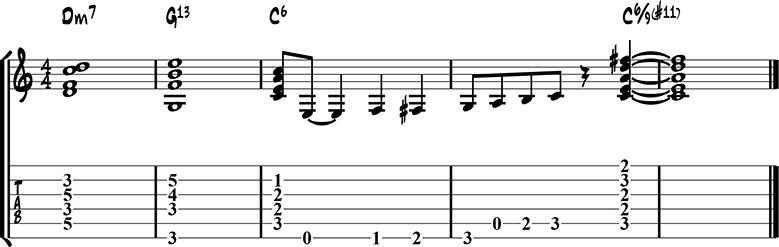 Jazz guitar ending 13