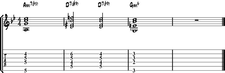 Jazz guitar ending 15b