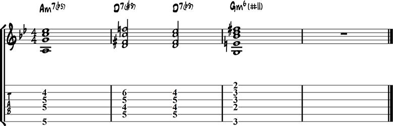Jazz guitar ending 15c