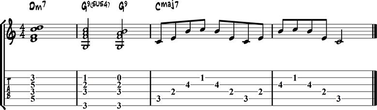 Jazz guitar ending 2
