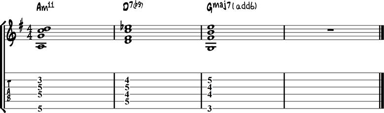 Jazz guitar ending 3