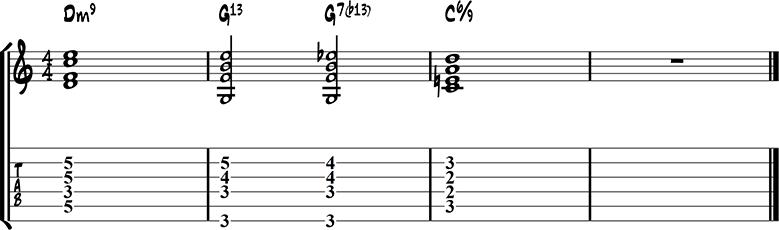 Jazz guitar ending 4