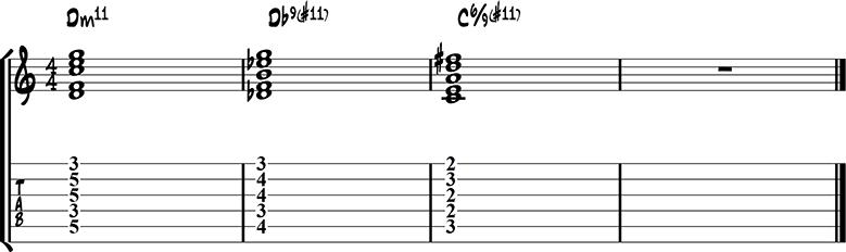 Jazz guitar ending 5