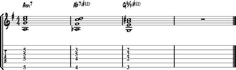 Jazz guitar ending 5b